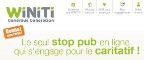 Winiti Le bloqueur de publicités qui aide lesassociations.